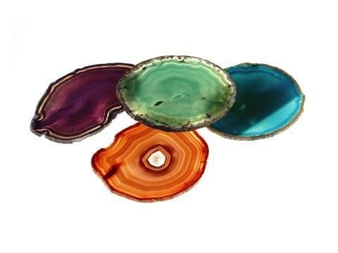 $75.00 Pedra Agate Set of 4 Coasters Assorted