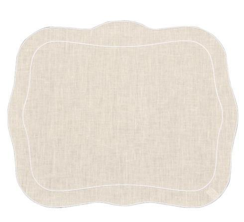 $100.00 Skyros Patrician Natural with White Edge Placemat Set of 4