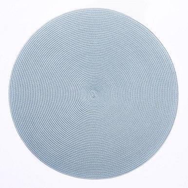 Deborah Rhodes   Deborah Rhodes Round Scallop Placemat Silver 2 Tone Silver/Aqua $28.00