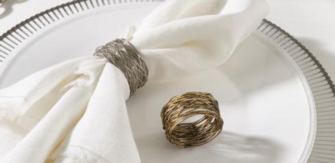 Saro Designs   Silver Metal Napkin Ring Single $7.50
