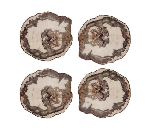 $47.00 Kim Seybert Fossil Coasters Set of 6