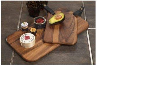 $60.00 Bali Cheese Board with Leather Strap  9.75 x 15.75