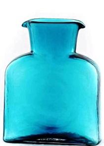 """$55.00 Blenko Water Bottle Seabreeze  8""""  36Oz"""