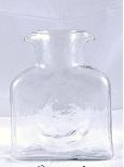 """$55.00 Blenko Water Bottle Clear 8""""  36Oz"""