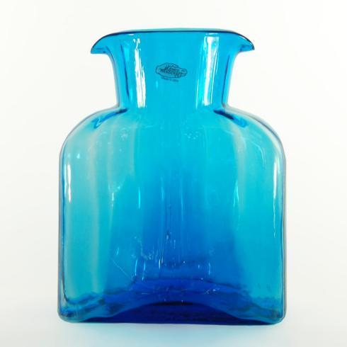 "$69.00 BLENKO STRAIGHT OPTIC WATER BOTTLE TURQUOISE 8"" TALL  36OZ"