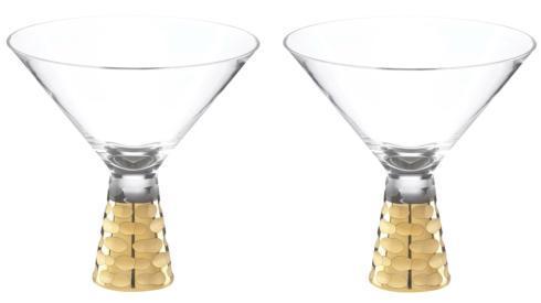 $125.00 Truro Gold Martini Pair