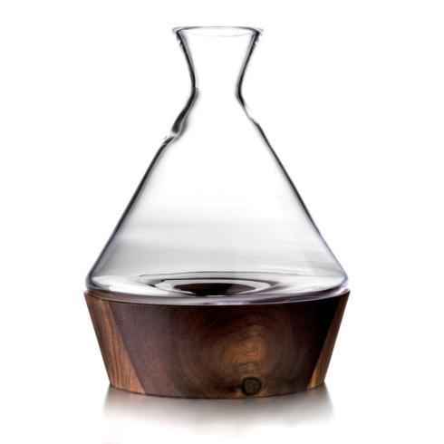$275.00 LUDLOW WINE DECANTER WOOD BASE
