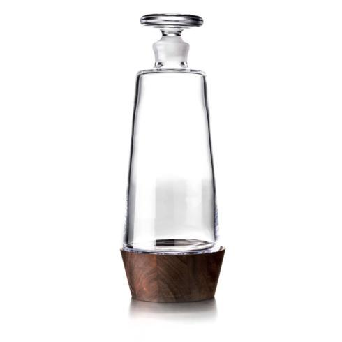 $250.00 LUDLOW  WHISKEY DECANTER W/ WALNUT STAND