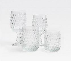 $30.00 CLAIRE WATER GOBLET CLEAR