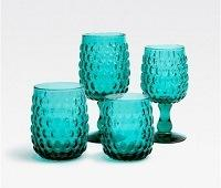 $24.00 CLAIRE TUMBLER GLASS TEAL