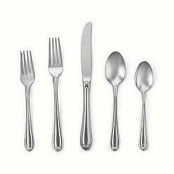 $50.00 Melon Bud Stainless 5 Piece Place Setting