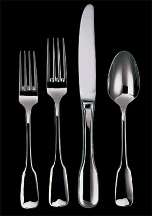 $40.00 Ginko Alsace Stainless Flatware 5 Piece Place Setting