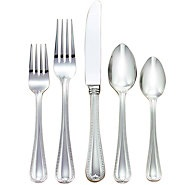 $65.00 Lenox Vintage Jewel Stainless 5 Piece Place Setting