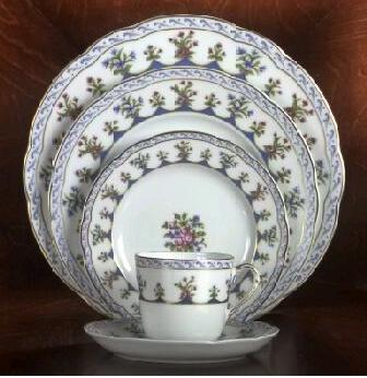 $84.00 CHATEAUBRIAND BLUE BREAD & BUTTER PLATE