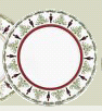 """$65.00 Grenadiers Accent Plate Red Stripe 8.5"""""""