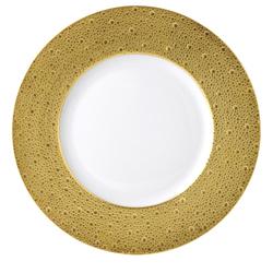 """$300.00 Ecume Gold Service Plate 12.5"""""""