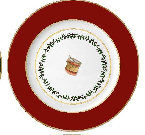 $69.00 Grenadiers Salad Plate Red Drum