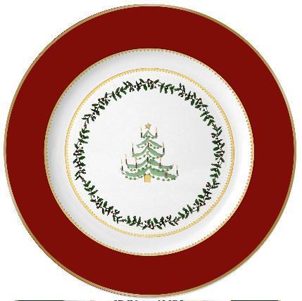 $69.00 Grenadiers Salad Plate Red Tree