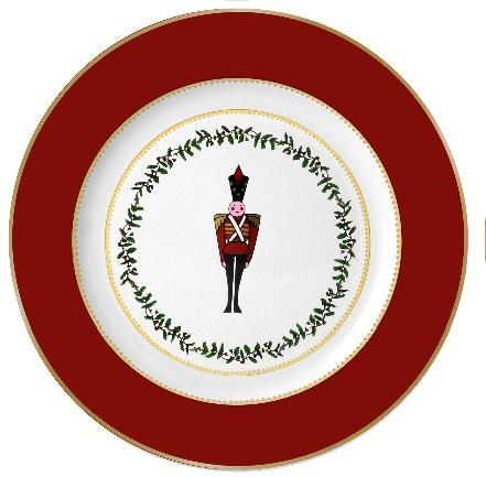 $69.00 Grenadiers Salad Plate Red Solider