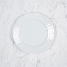 """$22.00 WEAVE WHITE 7.65"""" SALAD PLATE"""