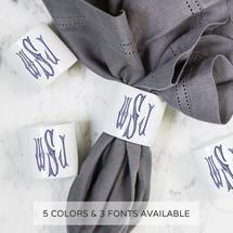 Sasha Nicholas   Napkin Ring With Monogram $24.00