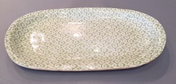 "$128.00 Terrafirma Small Fish Platter Marrakesh Citrus  16"" X 8"""
