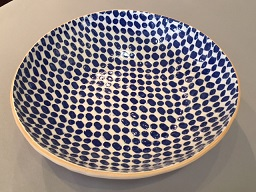 "$136.00 Terrafirma 12"" Medium Serving Bowl Dot Cobalt"