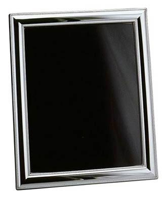 $180.00 Beaded Sterling 4 X 6 Wood Back Tarnish Resistant Frame