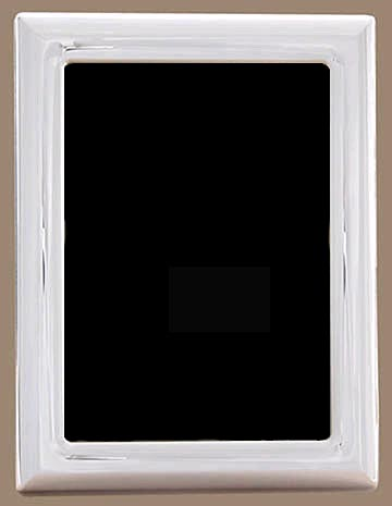 $200.00  Plain Sterling Silver 5 X 7 Wood Back Tarnish Resistant Frame