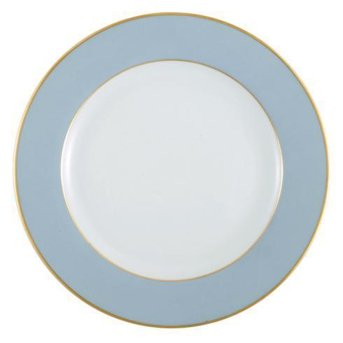 $145.00 Elysee Light Blue With Gold Rim Charger