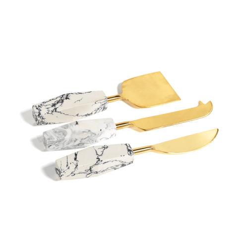$35.00 STONEDUST CHEESE KNIVES S/3