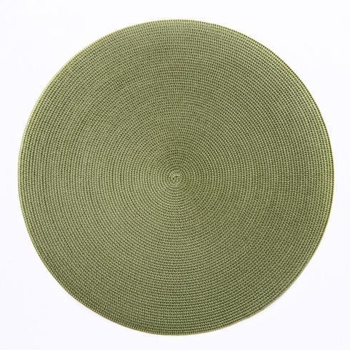 $28.00 Deborah Rhodes Square Scallop Placemat Grass