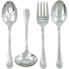 $35.00 Lafayette 4-Piece Hostess Set Consisting Of Tablespoon, Pierced Tablespoon,Cold Meat Fork & Gravy Ladle