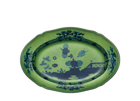 Richard Ginori 1735   Oriente Italiano Malachite Oval Pickle Dish $150.00