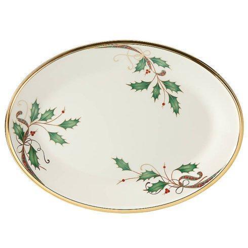 """Lenox   Holiday Nouveau Gold 13"""" Oval Platter $258.00"""
