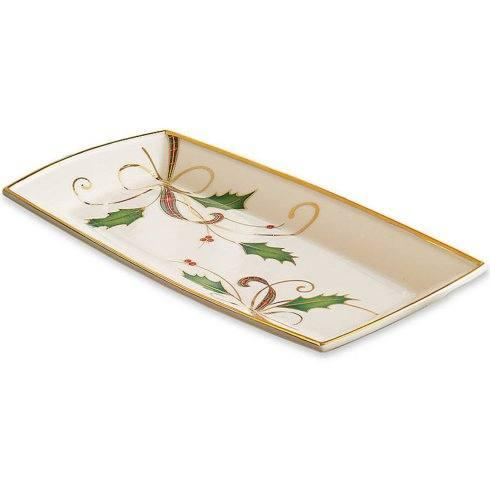 Lenox   Holiday Nouveau Gold Towel Tray $50.00