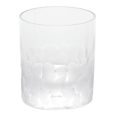 $110.00 Moser Pebbles Clear Double Old Fashion  12.5oz