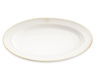 "$267.00 Pickard Signature Gold Rim 15"" Oval Platter"