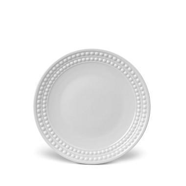 L'Objet   Perlee White Dessert Plate $38.00