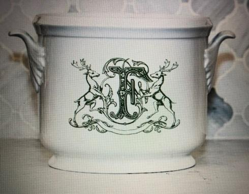 $185.00 Champagne Bucket with Stag Monogram