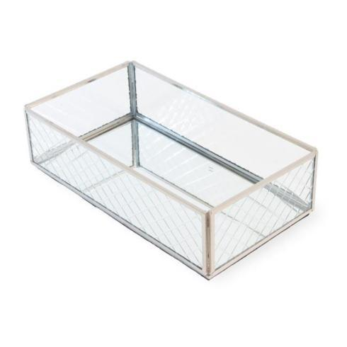 Social Memphis Exclusives   Boston International  Diamond Etched Guest Napkin Caddy Silver $33.00