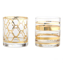 Two\'s Company   Manor Glass DOF Assorted $19.00