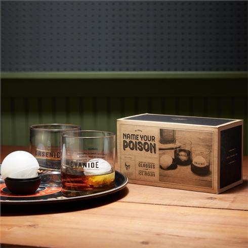 $30.00 Name Your Poison s/2 Glasses