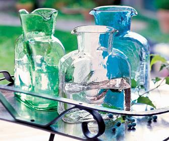 Blenko Glass Co   Straight Optic Water Bottle $72.00