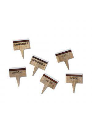 Montes Doggett   Cheese Marker #5684 Set/6 $40.00