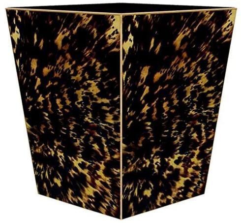 Social Memphis Exclusives   Marye Kelley Tortoise Shell Wastepaper Basket $135.00