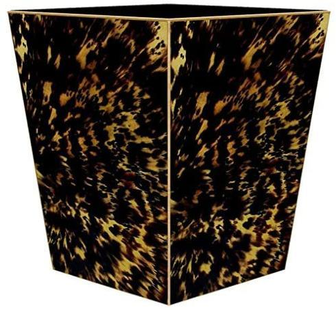 Social Memphis Exclusives   Marye Kelley Tortoise Shell Wastepaper Basket $135.00