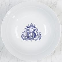 Sasha Nicholas  Weave Serving Pieces  Large Serving Bowl w/ Monogram Colors: Lt Blue, Navy Blue, Green, Black $136.00