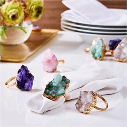 $68.00 Geode Napkin Rings Set/4