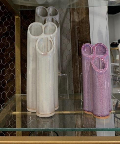 $16.00 Bay Pottery Short Vase Frost
